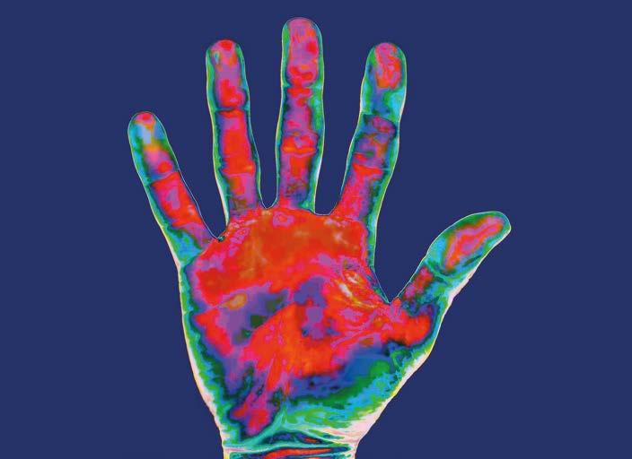 Infrarotaufnahme-einer-menschlichen-Hand